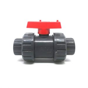 PVC-TRUE-UNION-BALL-VALVE-SOCKET-RED-HANDLE