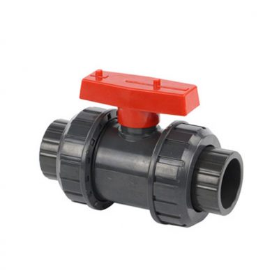 PVC TRUE UNION BALL VALVE SOCKET RED HANDLE