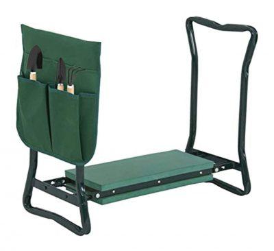 مقعد-قابل-للطي-مع حقيبة-أدوات-الحديقة